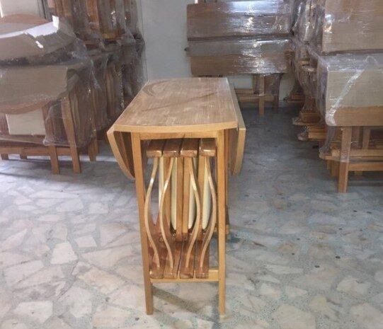 4 sandalyeli ahşap katlanır izmir masa, spot mutfak masa takımı!